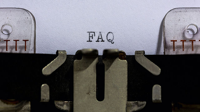 FAQ typewriter