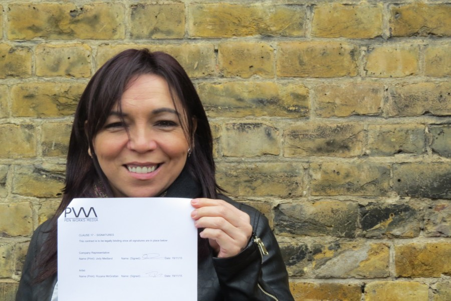 Rozana McGrattan signs with London publisher