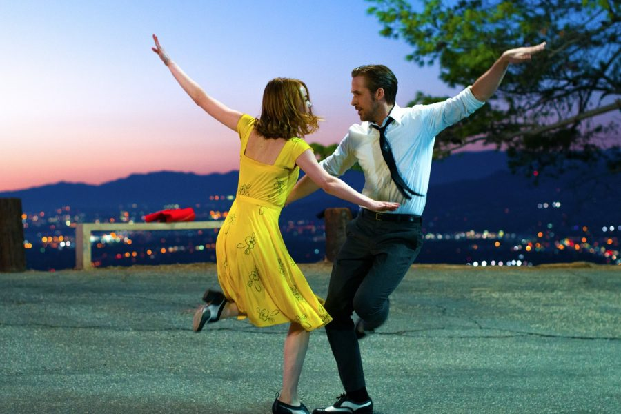 Stone and Gosling dance the night away